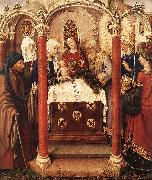 DARET, Jacques Altarpiece of the Virgin inx oil