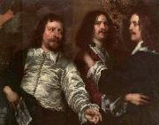 DOBSON, William The Painter with Sir Charles Cottrell and Sir Balthasar Gerbier dfg oil