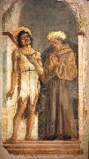 DOMENICO VENEZIANO St John the Baptist and St Francis sdn oil painting picture wholesale