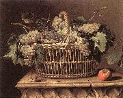 DUPUYS, Pierre Basket of Grapes dfg oil painting artist