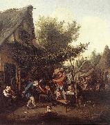 DUSART, Cornelis Village Feast dfg oil