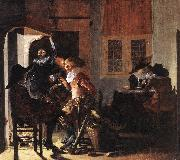 DUYSTER, Willem Cornelisz. Soldiers beside a Fireplace sg oil painting picture wholesale