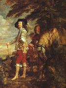 DYCK, Sir Anthony Van Charles I: King of England at the Hunt drh oil