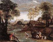 Domenichino Landscape with Ford dg oil painting picture wholesale