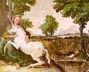 Domenichino The Maiden and the Unicorn oil painting picture wholesale
