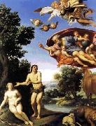 Domenichino Adam and Eve sfw oil painting picture wholesale