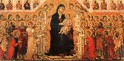 Duccio di Buoninsegna Madonna and Child Enthroned with Angels and Saints oil