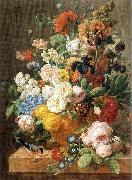 ELIAERTS, Jan Frans Bouquet of Flowers in a Sculpted Vase dfg oil