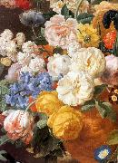 ELIAERTS, Jan Frans Bouquet of Flowers in a Sculpted Vase (detail) f oil