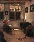 ELINGA, Pieter Janssens Reading Woman dg oil
