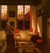 ELINGA, Pieter Janssens Room in a Dutch House g oil