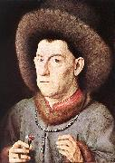 EYCK, Jan van Portrait of a Man with Carnation re oil painting picture wholesale