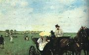Edgar Degas At the Races in the Country Sweden oil painting reproduction