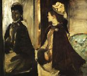 Edgar Degas Jeantaud at the Mirror oil painting picture wholesale