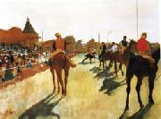 Edgar Degas Race Horses before the Stands oil painting picture wholesale