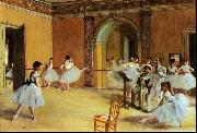 Edgar Degas Dance Foyer at the Opera Sweden oil painting reproduction