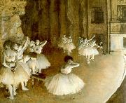 Edgar Degas Ballet Rehearsal on Stage oil painting artist