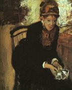 Edgar Degas Portrait of Mary Cassatt oil painting picture wholesale