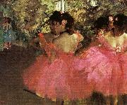 Edgar Degas Dancers in Pink_f Sweden oil painting reproduction