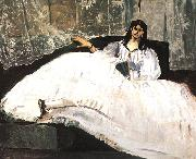 Edouard Manet Bauldaire's Mistress Reclining oil painting picture wholesale