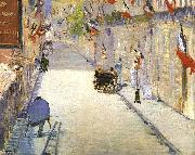 Edouard Manet Rue Mosnier with Flags oil painting picture wholesale