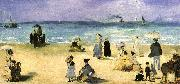Edouard Manet On the Beach at Boulogne oil painting