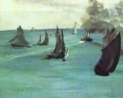 Edouard Manet The Beach at Sainte Adresse oil painting