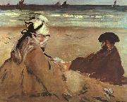 Edouard Manet On the Beach oil painting