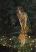 Edward Robert Hughes Midsummer Eve oil painting picture wholesale