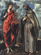 El Greco Saints John the Evangelist and Francis oil painting artist