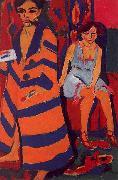 Ernst Ludwig Kirchner Self Portrait with Model oil painting artist