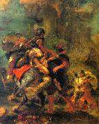Eugene Delacroix The Abduction of Rebecca Sweden oil painting reproduction