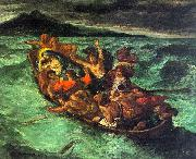 Eugene Delacroix Christ on the Lake of Gennesaret oil painting artist