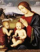 FRANCIA, Francesco Madonna and Child with the Infant St John the Baptist dsh oil painting picture wholesale