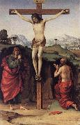 FRANCIA, Francesco Crucifixion with Sts John and Jerome de oil painting picture wholesale
