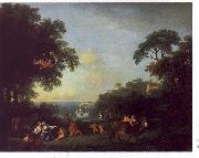 Francesco Zuccarelli Landscape with the Rape of Europa oil
