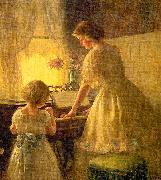Francis Day The Piano Lesson oil painting artist