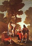 Francisco de Goya The Maja and the Masked Men oil painting picture wholesale