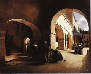Francois Bonvin The Ave Maria;Interior of a Convent at Aramont,Verberie(Oise) oil
