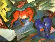 Franz Marc Red and Blue Horse oil painting picture wholesale