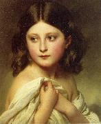Franz Xaver Winterhalter A Young Girl called Princess Charlotte oil painting picture wholesale