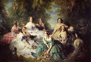 Franz Xaver Winterhalter The Empress Eugenie Surrounded by her Ladies in Waiting oil painting picture wholesale