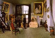 Frederic Bazille The Artist's Studio on the Rue de la Condamine oil painting picture wholesale