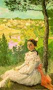 Frederic Bazille View of the Village oil painting artist