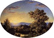 Frederic Edwin Church Twilight among the Mountains oil painting artist