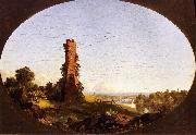 Frederic Edwin Church New England Landscape with Ruined Chimney oil painting artist