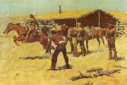 Frederick Remington Coming and Going of the Pony Express oil