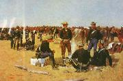 Frederick Remington A Cavalryman's Breakfast on the Plains oil painting picture wholesale