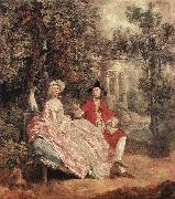GAINSBOROUGH, Thomas Conversation in a Park sd oil painting artist