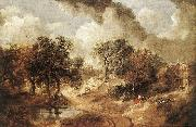 GAINSBOROUGH, Thomas Landscape in Suffolk sdg oil painting artist